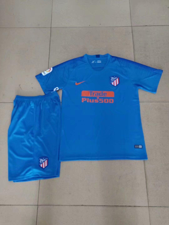 6a29cf69137 2018 19 AAA Adult Atletico Madrid Away Blue Soccer Jersey Uniform Men  Football Kits