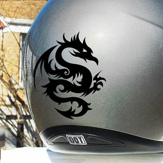 Dragon Hyper Reflective Decal Motorcycle Helmet Safety Sticker - Vinyl stickers for motorcycle helmets