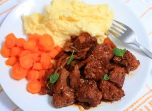 Belgian Beef Stew in the Microwave | Recipes by Victoria