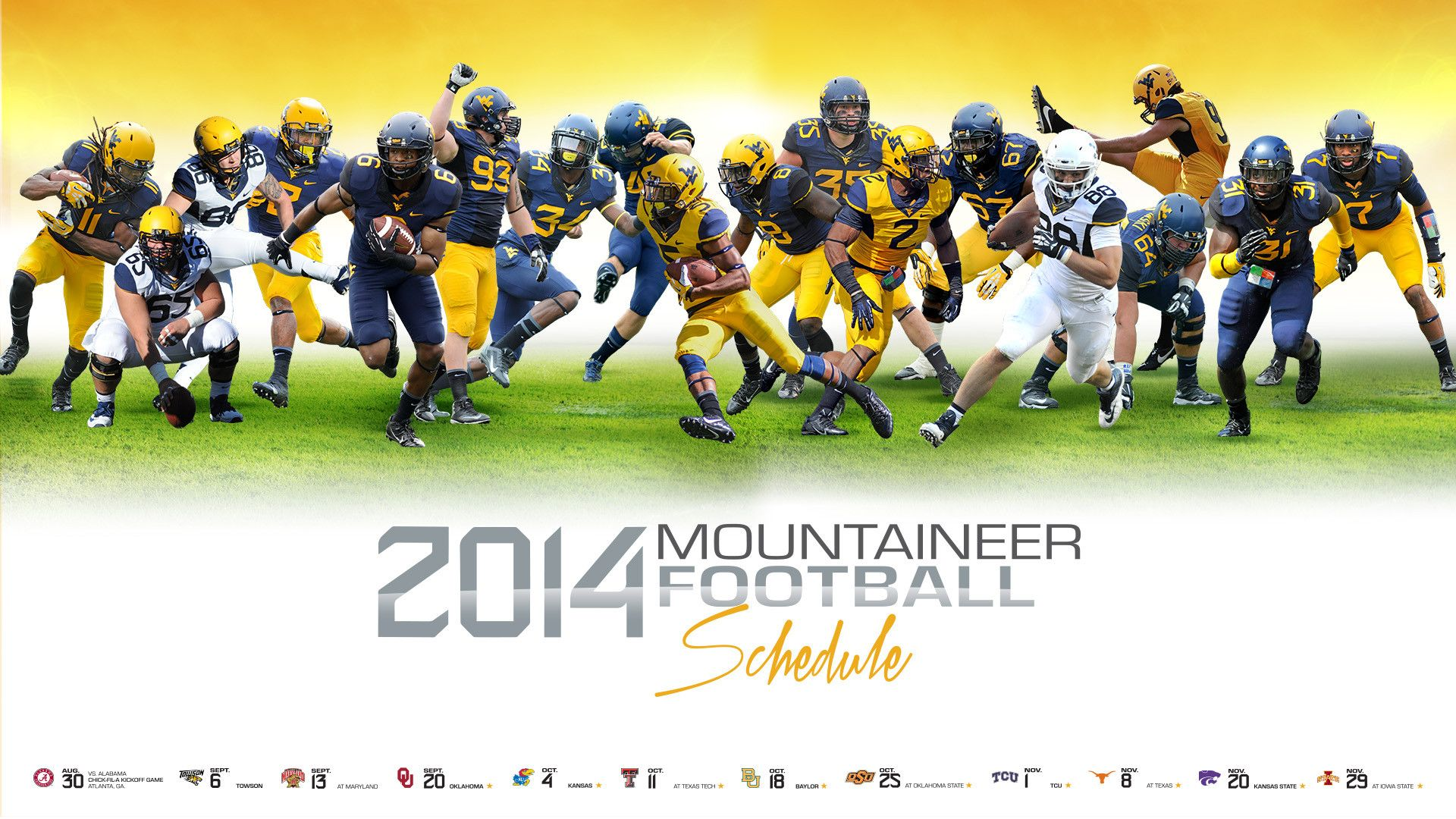 (1920×1080) 2014 WVU football schedule graphic for Desktop