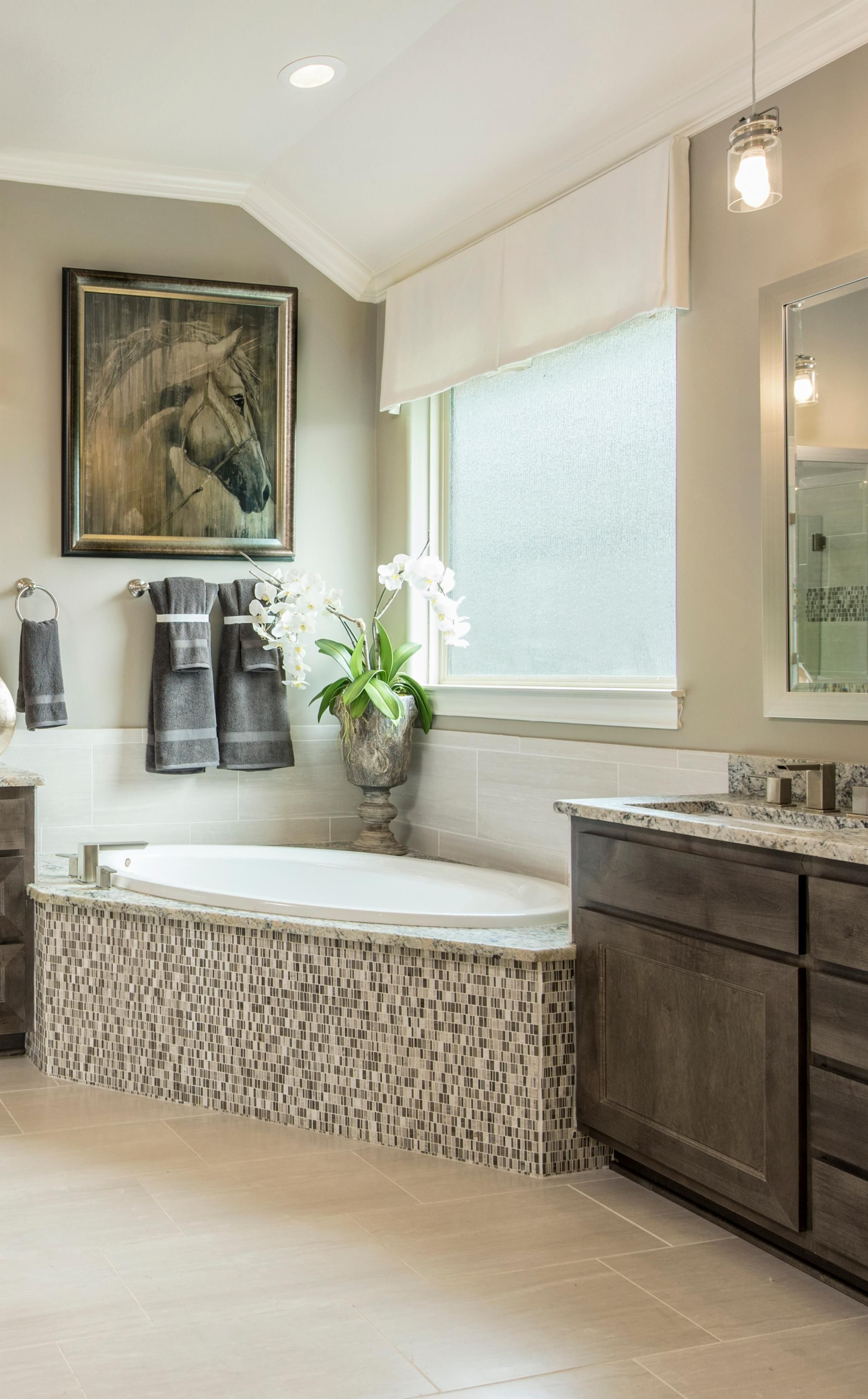 Step inside your no-stress zone with an elegant master bathroom with ...