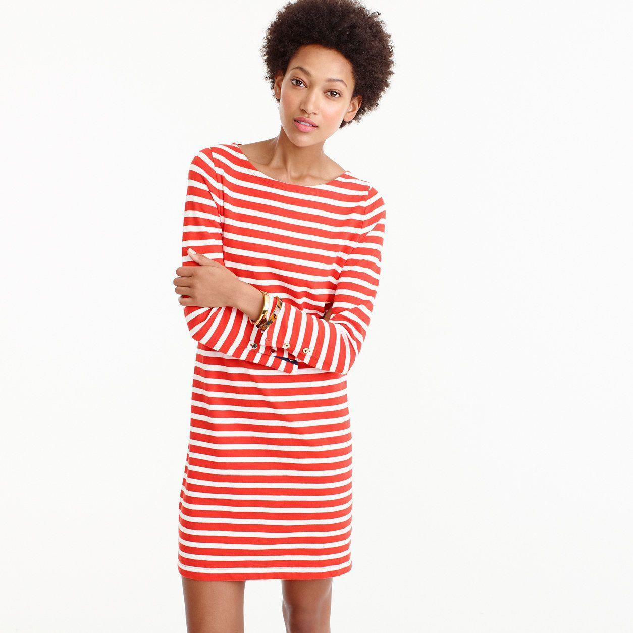 697799e1793 J.Crew Womens Striped T-Shirt Dress (Size XXL)