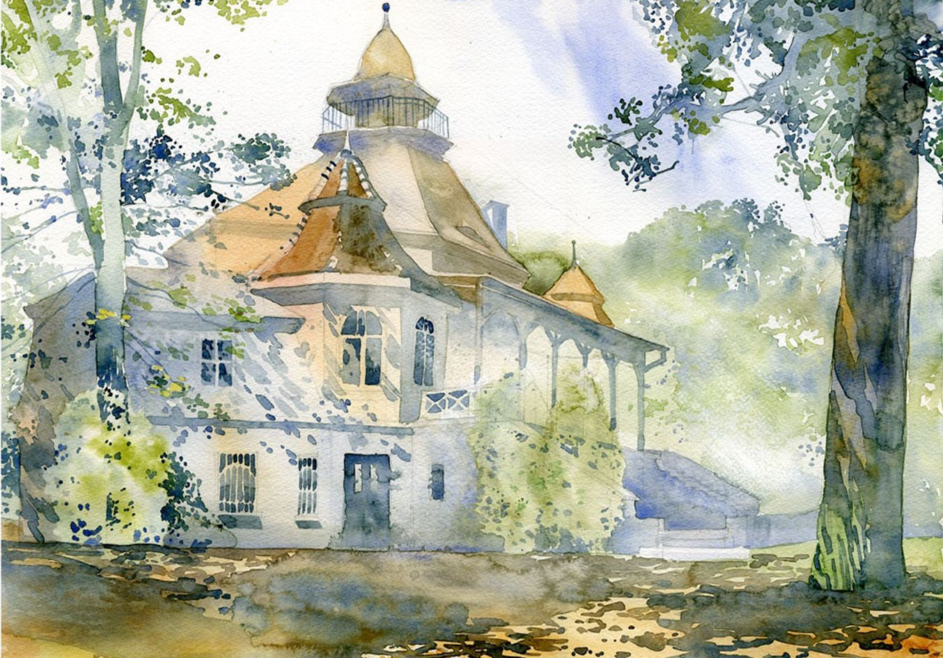 Grzegorz Wrobel 9 Watercolor Architecture Watercolor Art Painting