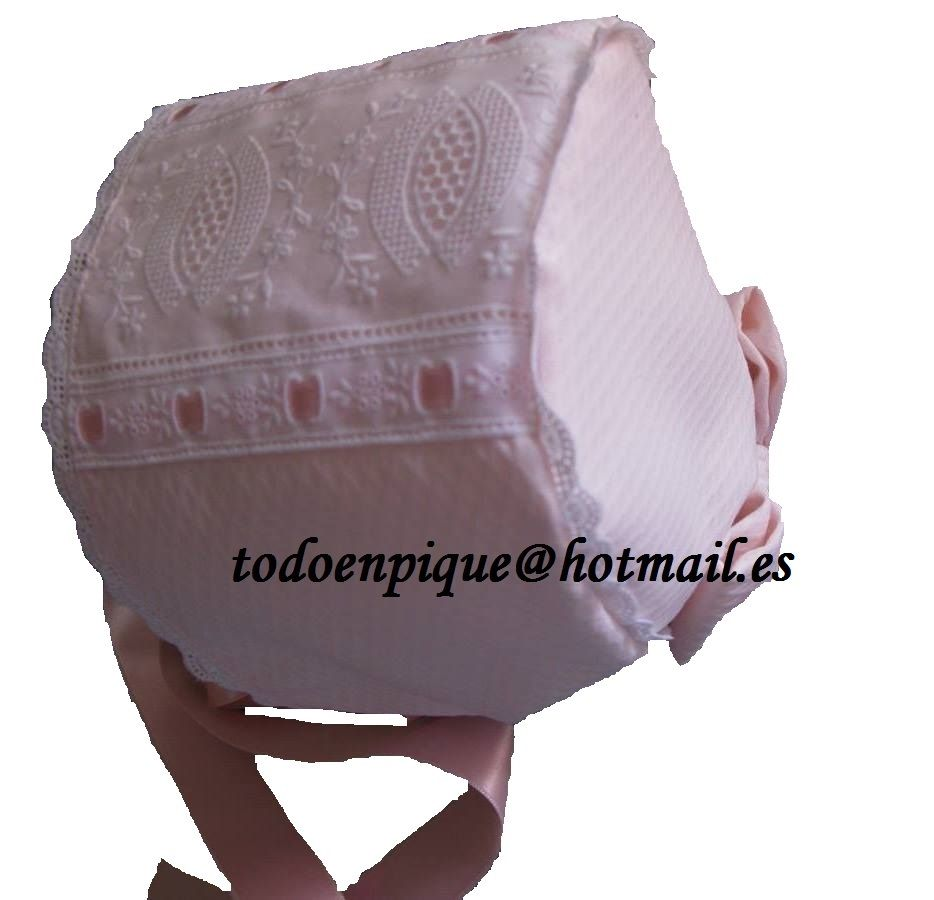 Baby Bonnet available in the on line shop http://todoenpiqueparabebe.com/
