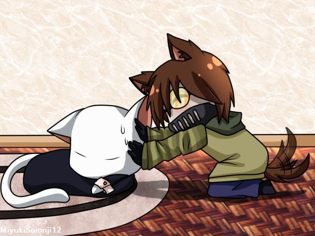 ChibiNeko 3 SlenderMan and Ticci-Toby by MiyukiSaionji12
