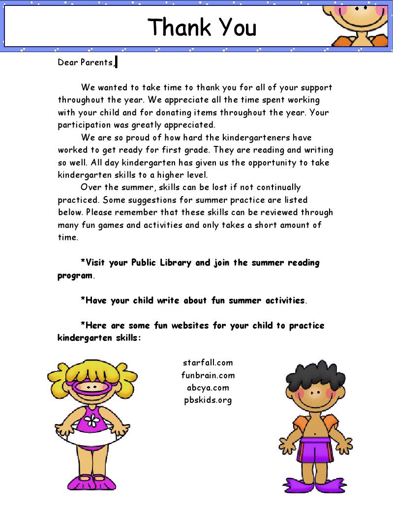 Summer LetterDoc  School    School