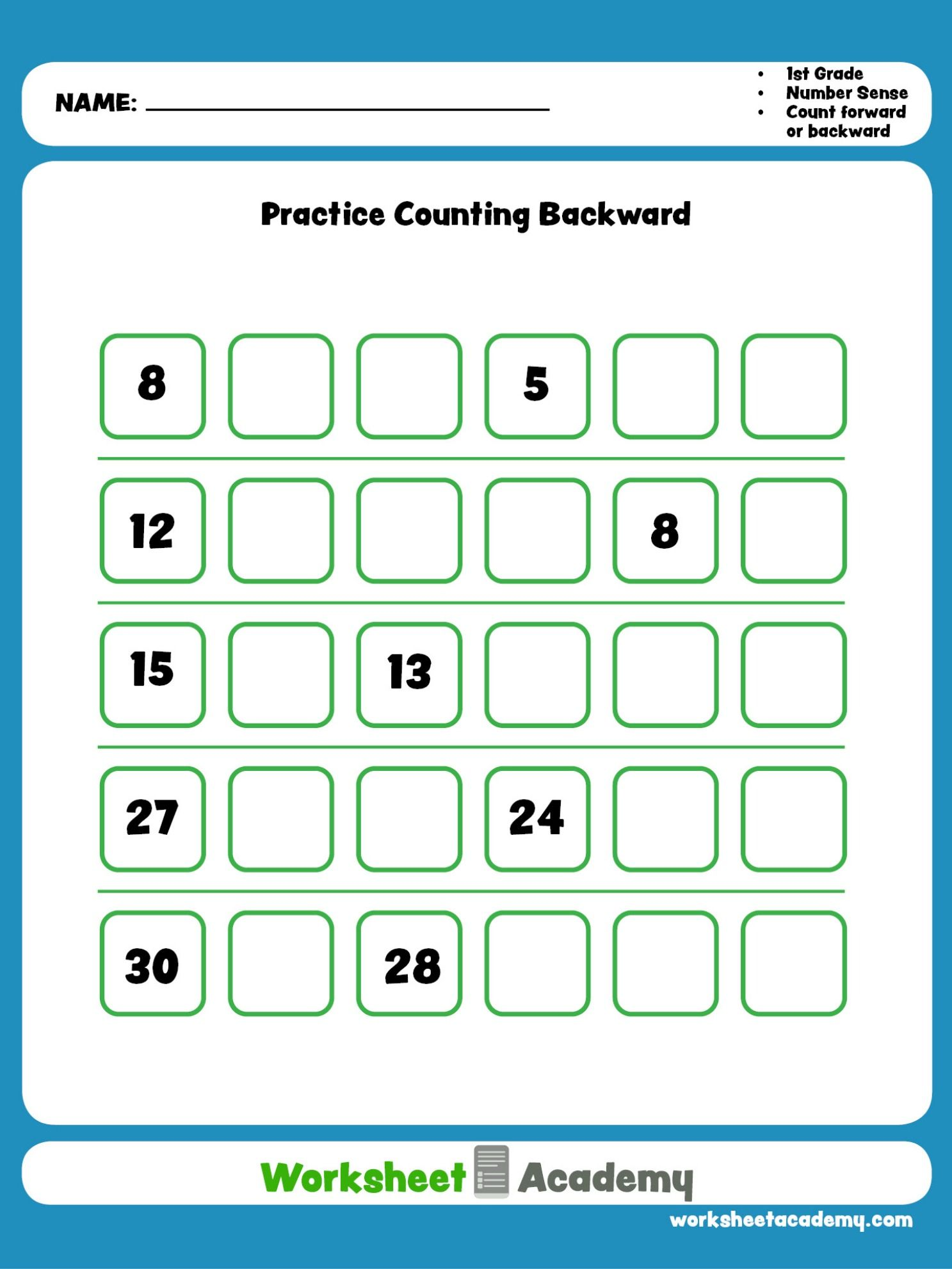 Practice Counting Backwards