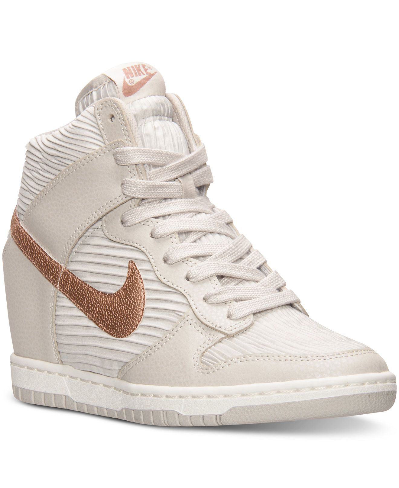 Nike Women s Dunk Sky Hi Casual Sneakers from Finish Line - Finish Line  Athletic Shoes - Shoes - Macy s 5b6a98cbe590
