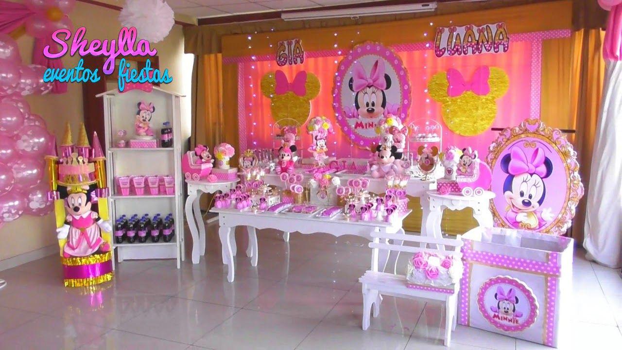 Minnie Bebe Decoración Temática Vintage Fiesta Infantil Mesa Dulce Decoracion Minnie Bebe Decoracion Cumpleaños Minnie Decoración De Fiestas Infantiles