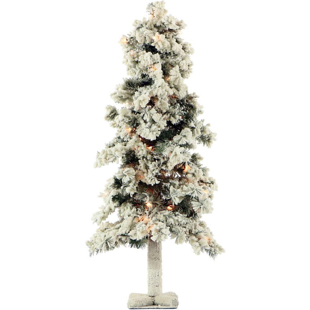 98 48 In Pre Lit Snowy Downswept Artificial Christmas Tree White Artificial Christmas Tree Christmas Tree Clear Lights Pre Lit Christmas Tree
