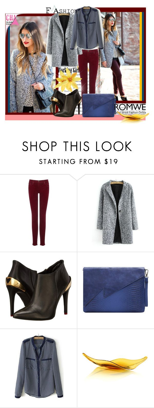"""Romwe VI-1"" by azra-90 ❤ liked on Polyvore featuring PAM, AG Adriano Goldschmied, Love Moschino and romwe"