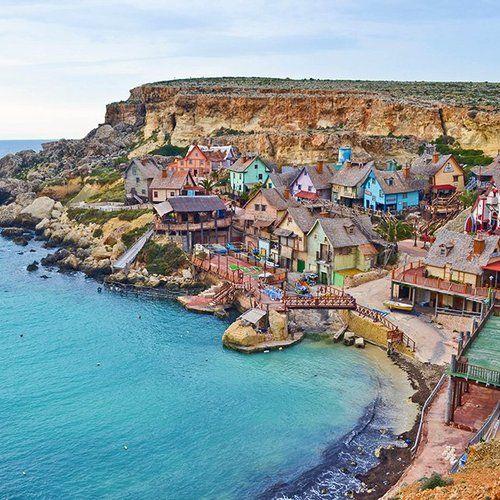 Popeye Village In Malta Travel Malta Urlaub Malta Und Reisen