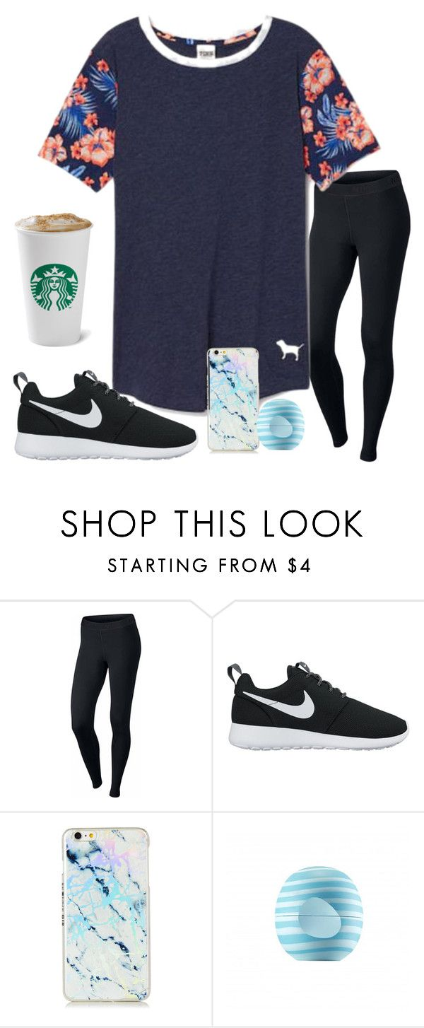 """""""No School Today!!"""" by ctrygrl1999 ❤ liked on Polyvore featuring NIKE, Victoria's Secret and Eos"""