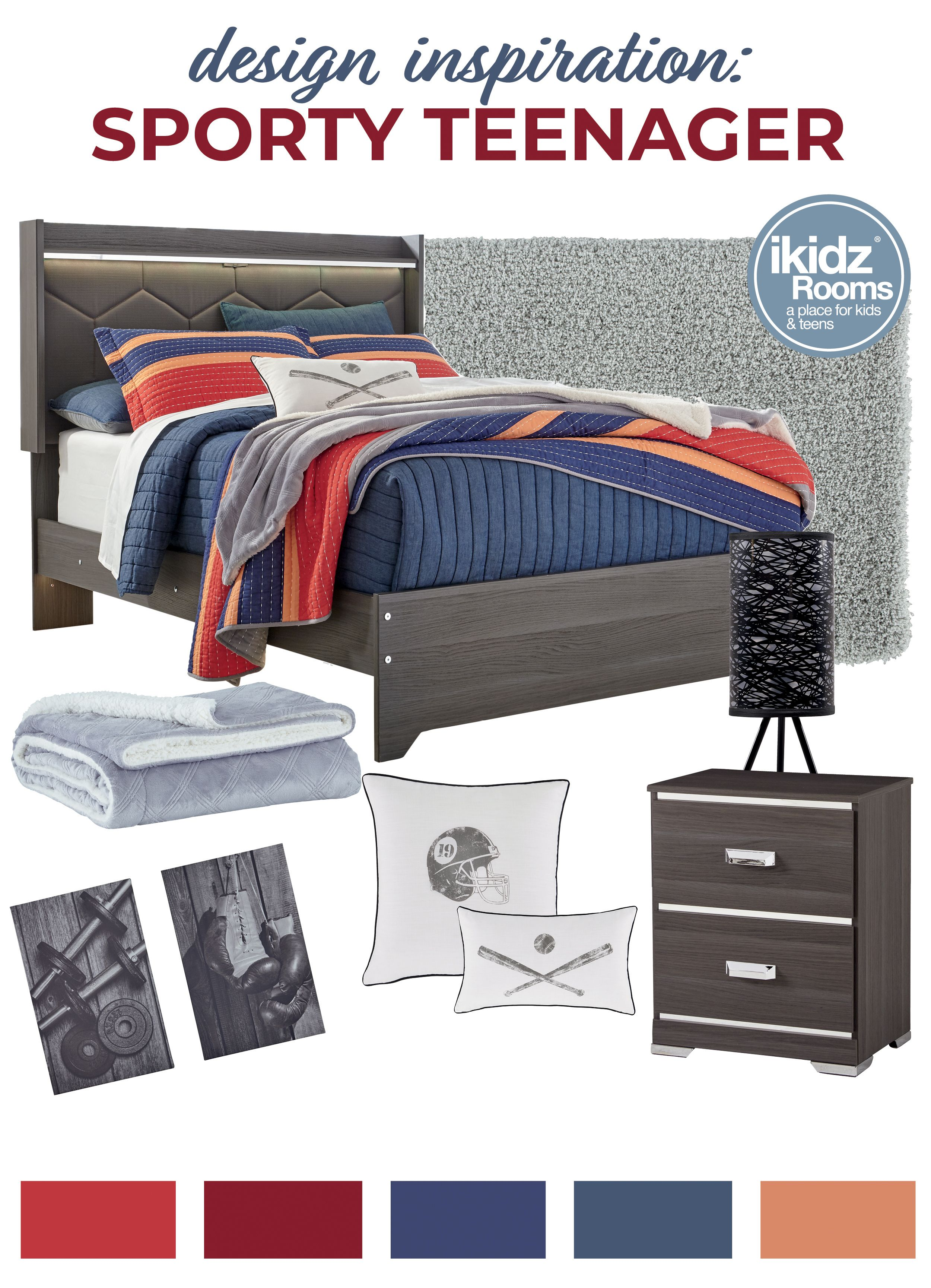 The Perfect Bedroom For Any Sports Lover By Ashley Furniture