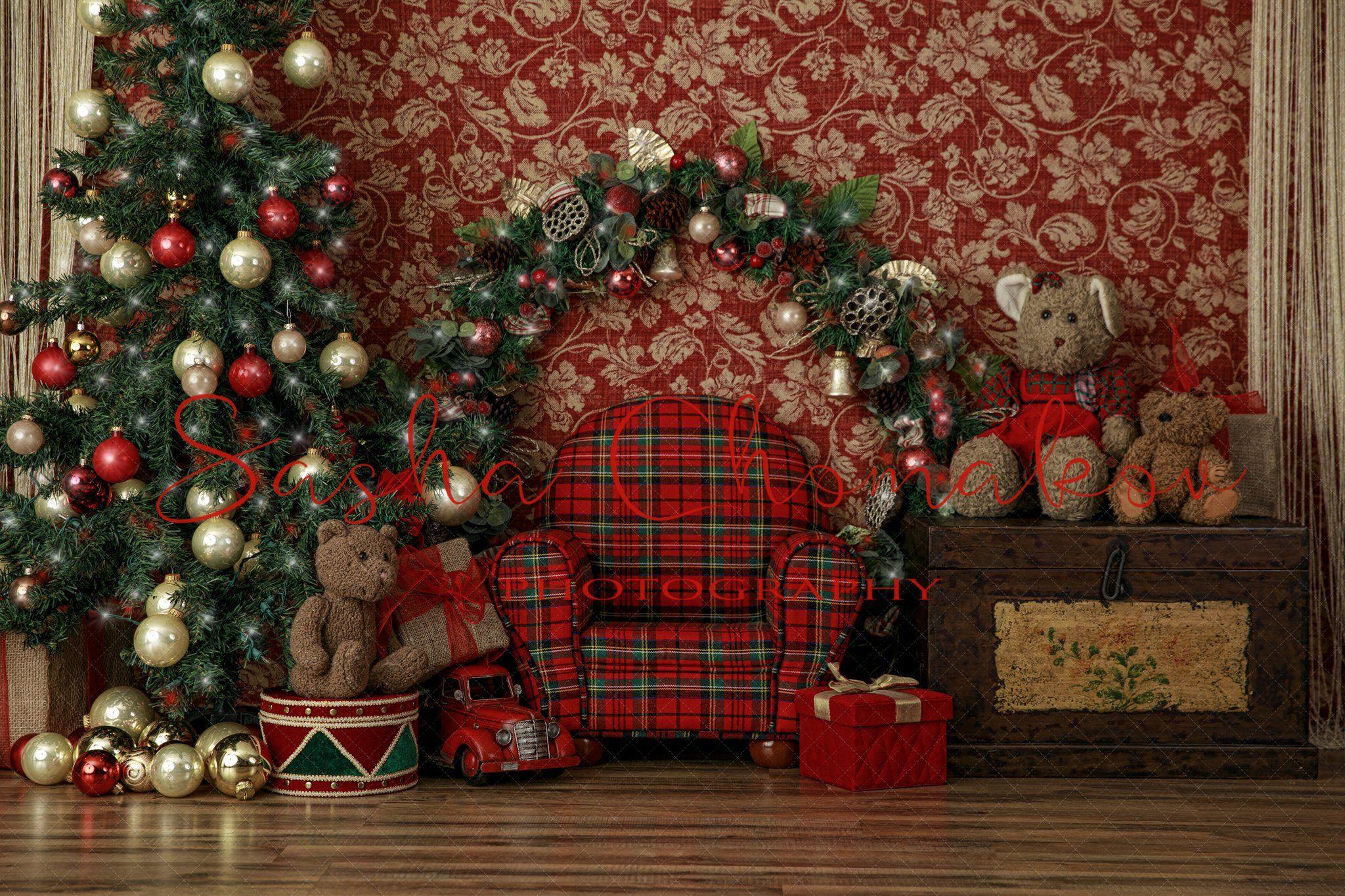 OFILA Rustic Christmas Backdrop 4x6ft Kids Christmas Photos Background Christmas Garland Interior Room Decor Baby Christmas Portraits Christmas Party Decoration Home Photography Studio Props
