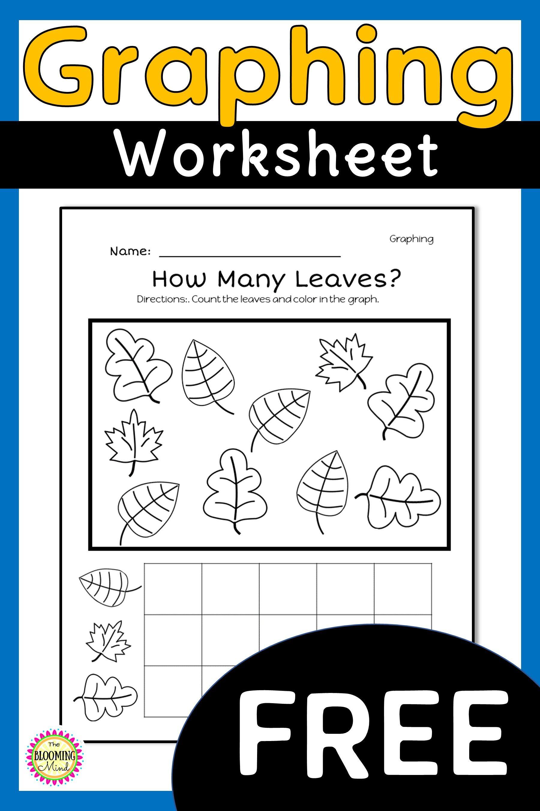 Free Fall Graphing Worksheet Graphing Worksheets Graphing Kindergarten November Math