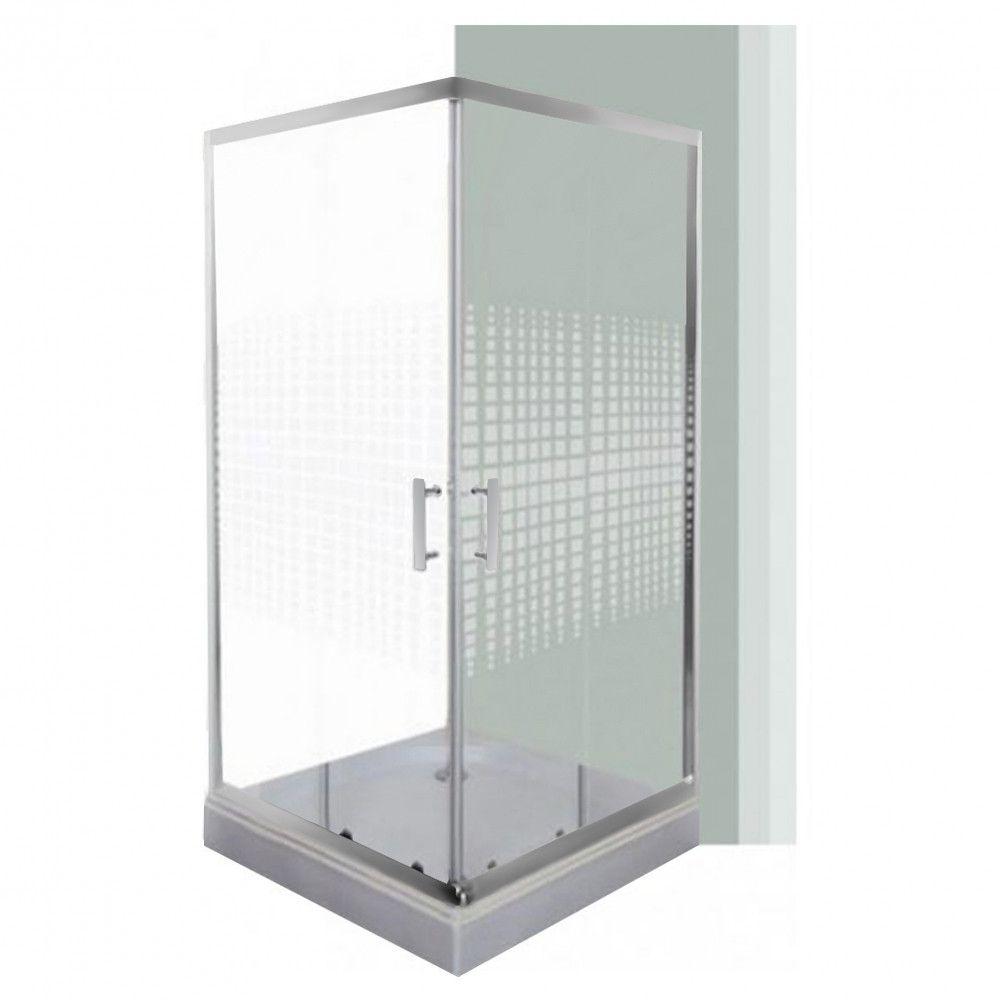 Spirit Matrix 90×90 cm square shower enclosure, reinforced with …