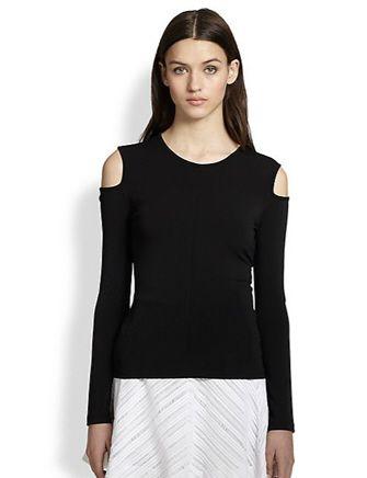 RAG & BONE Michelle Cutout-Shoulder Stretch Jersey Top