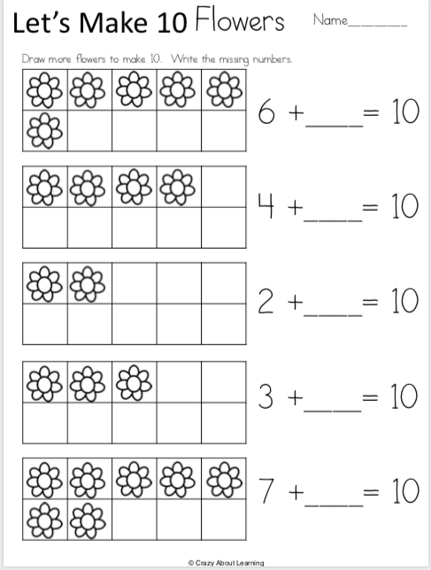 Free Spring Kindergarten Math Addition Worksheets Made By Teachers Math Addition Worksheets Kindergarten Math Worksheets Addition Spring Math Kindergarten