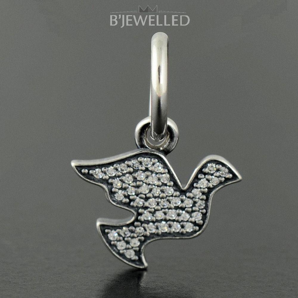 Authentic Genuine Pandora Silver Symbol Of Peace Dove Charm