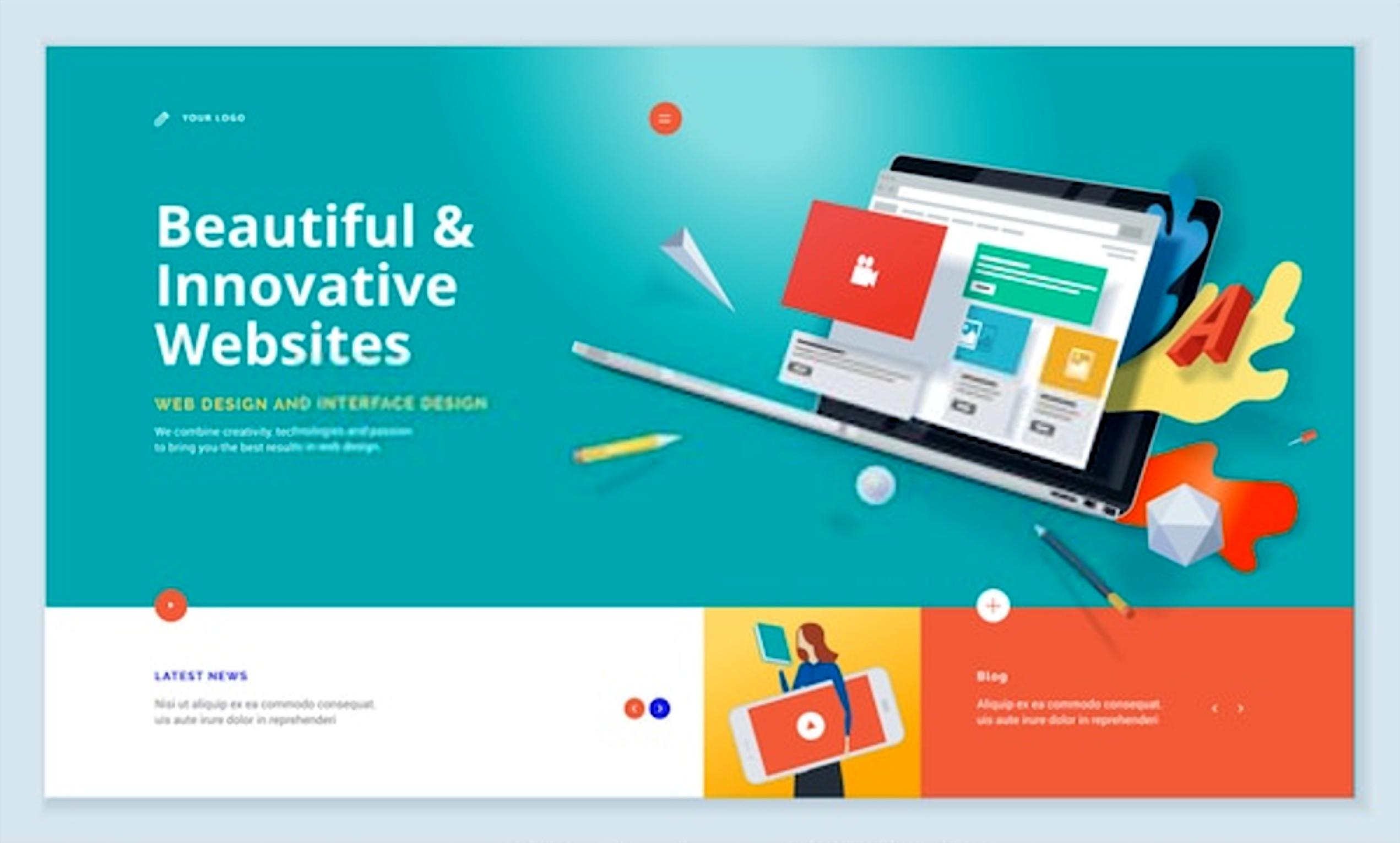 Innovative Web Design In 2020 Website Template Design Innovative Websites Web Design