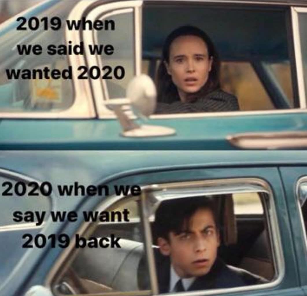 Umbrella Academy Fan Account On Instagram At Least This Nightmare Of A Year Is Almost Over Credit To U Westan Really Funny Memes Funny Umbrella Funny Memes