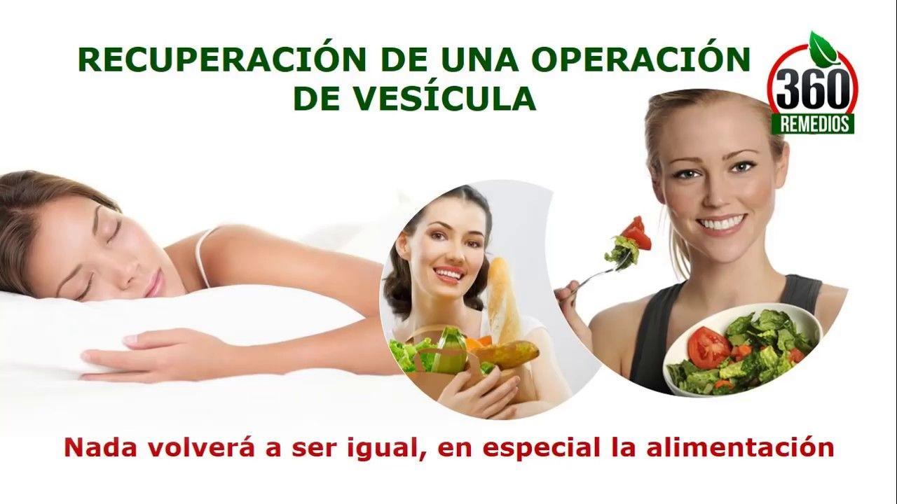Dieta tras operacion vesicula