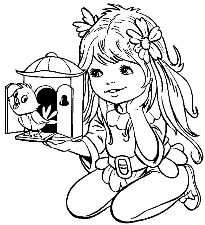 coloring book pages for girls 99 free printable coloring pages - Girl Colouring Page