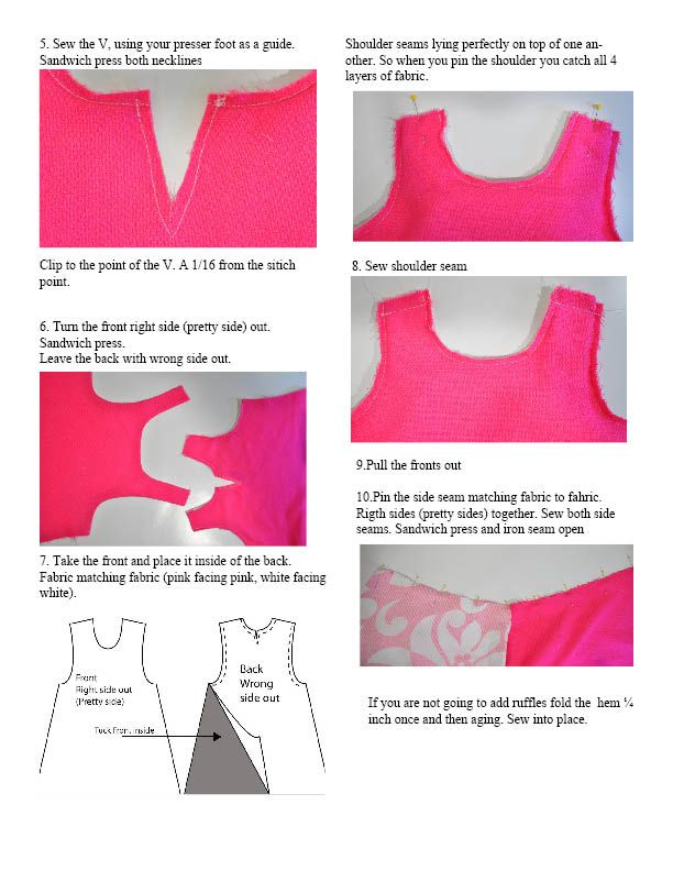 Couturier Mommy: The Reversible Ribbon Dress | Coser para los peques ...