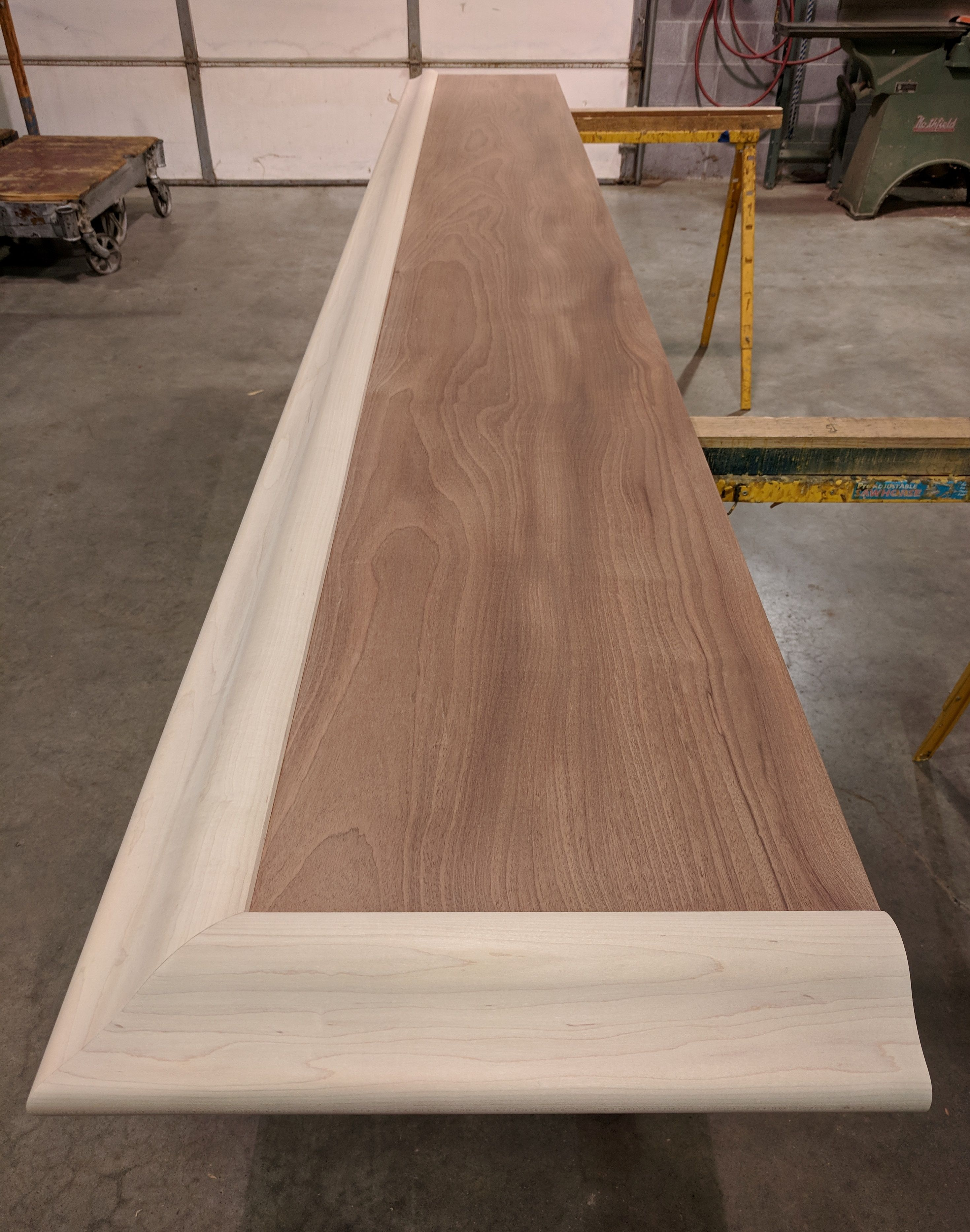 Check Out This Custom Home Bar Top Just Out Of Our Shop The Main Top Is A One Piece Sapele Mahogany Slab Trimmed Custom Home Bars Wooden Bar Top Diy