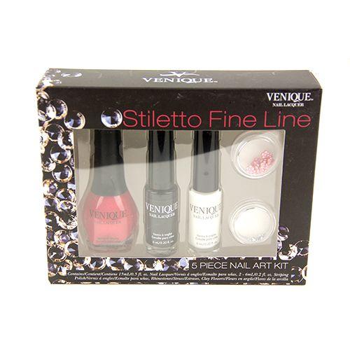 Venique Stiletto Fine Line Nail Kit. Starting at $4 on Tophatter.com!