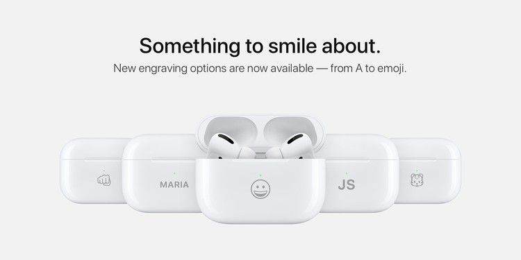 Airpods Can Now Be Engraved With Select Emoji As Apple Refreshes Exclusive Font 9to5mac Emoji Apple Imprinting