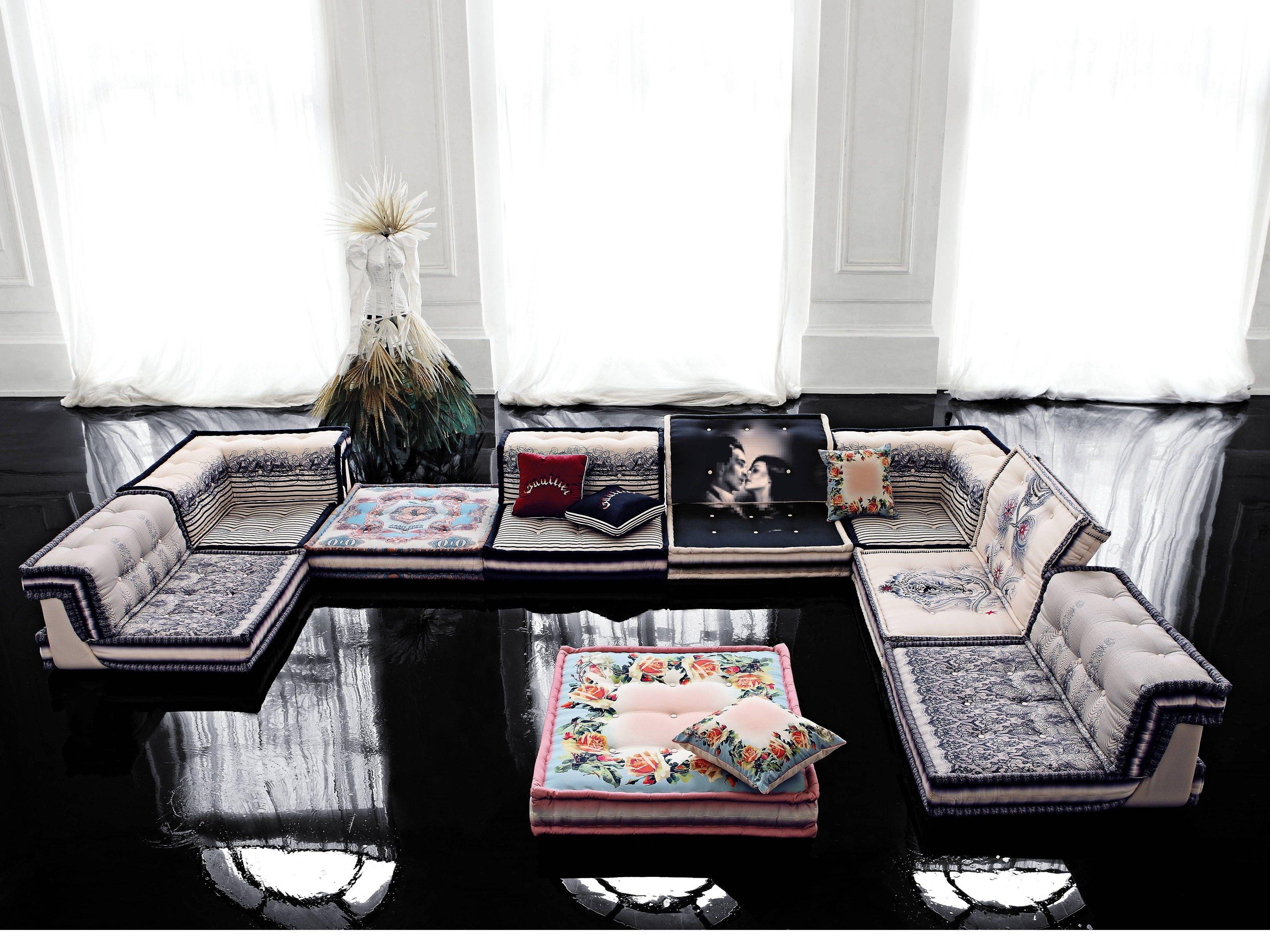 Fesselnd Modulares Sofa Aus Stoff MAH JONG COUTURE By ROCHE BOBOIS Design Hans Hopfer