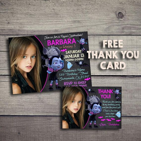 Vampirina Birthday Invitation, Vampirina Birthday Invite, Vampirina  Invitations, Vampirina Birthday Invites, Vampirina