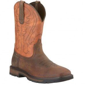 10015188 Ariat Men's Groundbreaker Work Boots - Brown/Ember www.bootbay.com