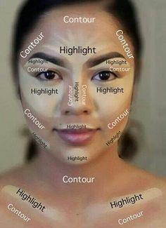 makeup contour diagram google search