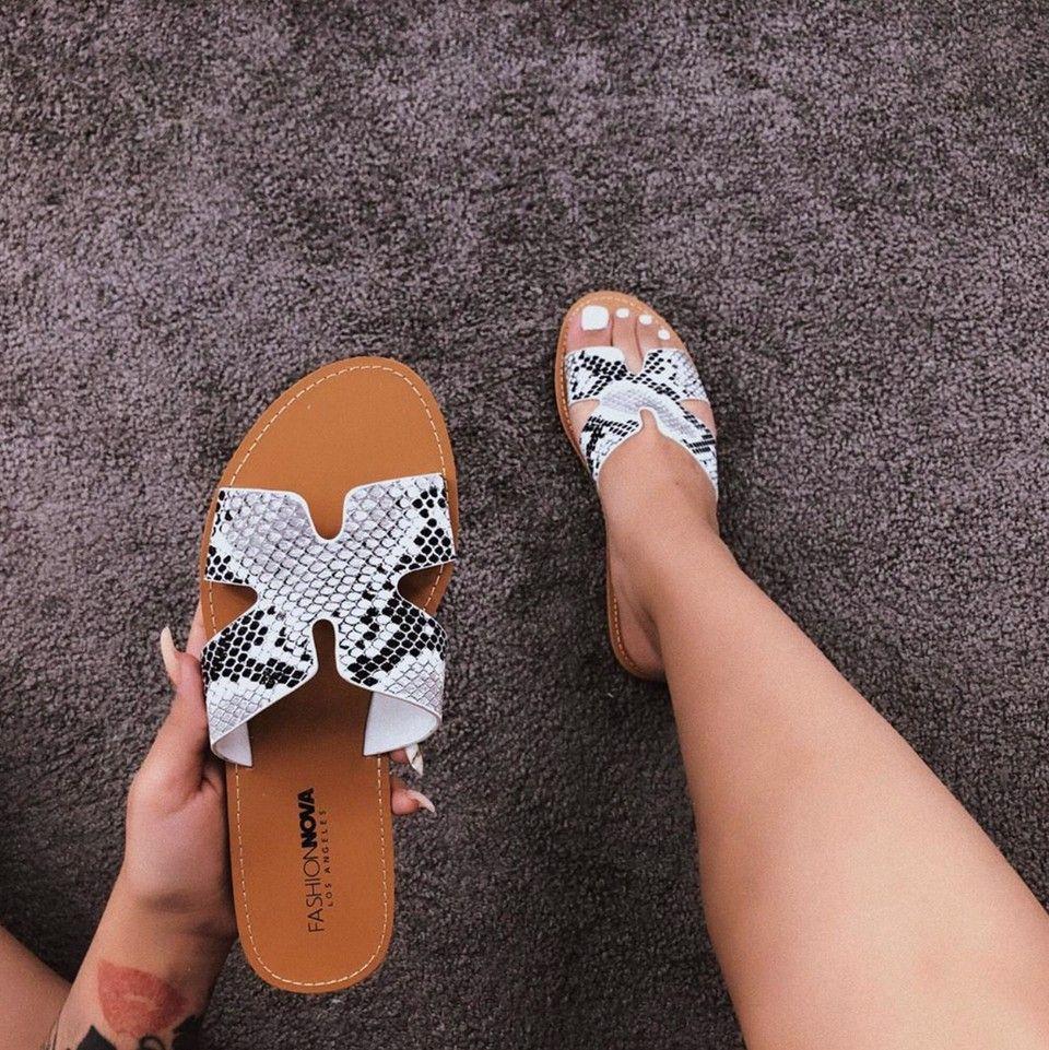 Invincible Flat Sandals White Black Fashion Nova Shoes Sandals Womens Sandals