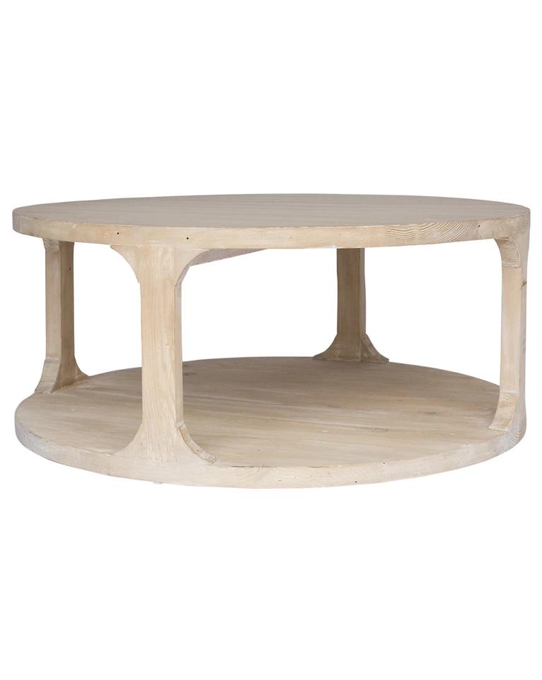 Grady Coffee Table - Gray Wash Wax / Small   Table, Coffee table grey, Round coffee table