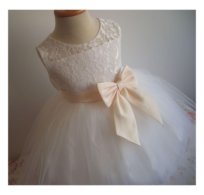 e766fae99 Flower Girl Dress Little Baby Girl Baptism Dress Tulle TuTu Infant ...