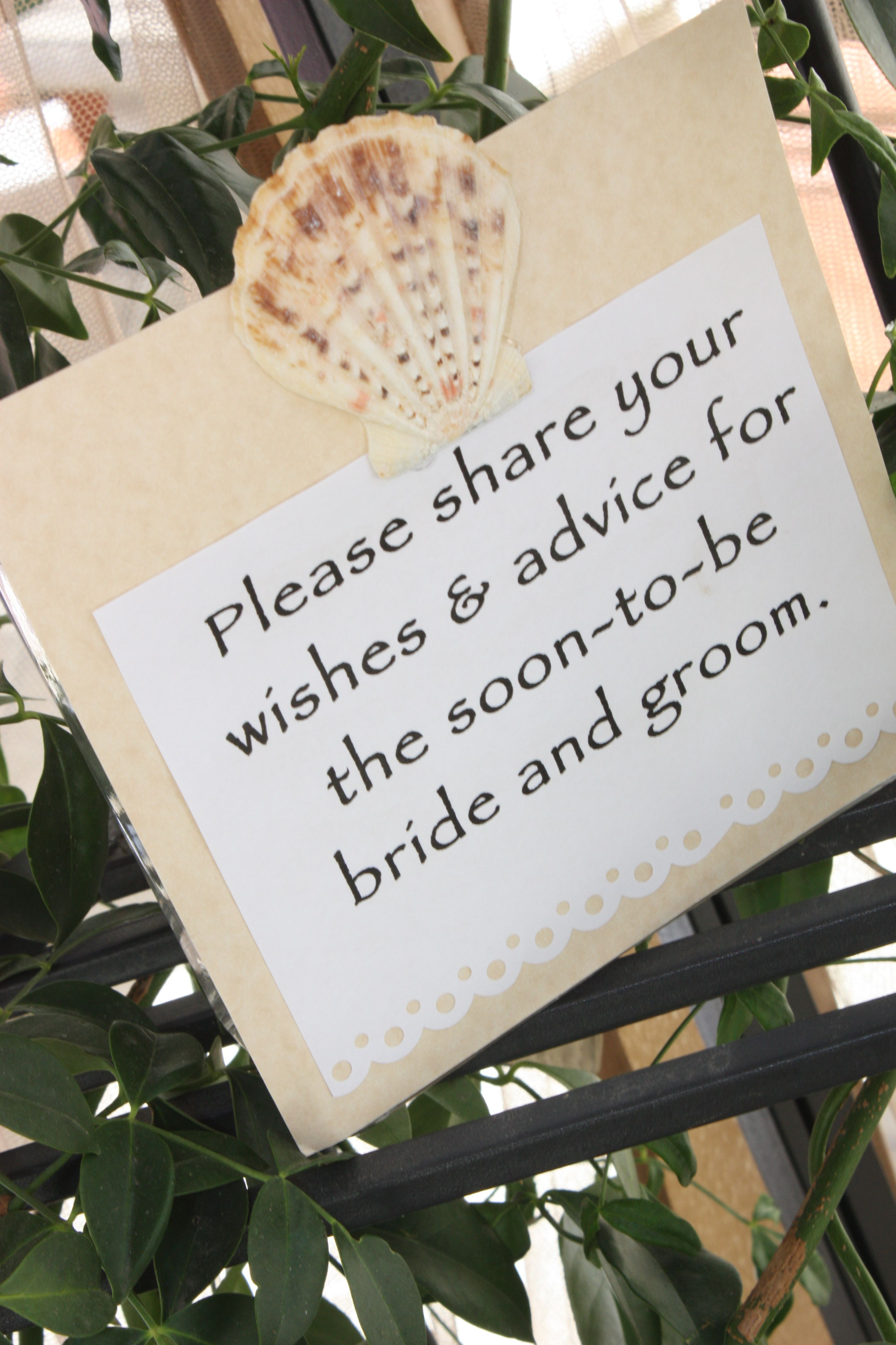 bridal shower - thoughtful gifts for the bride and groom made by all ...