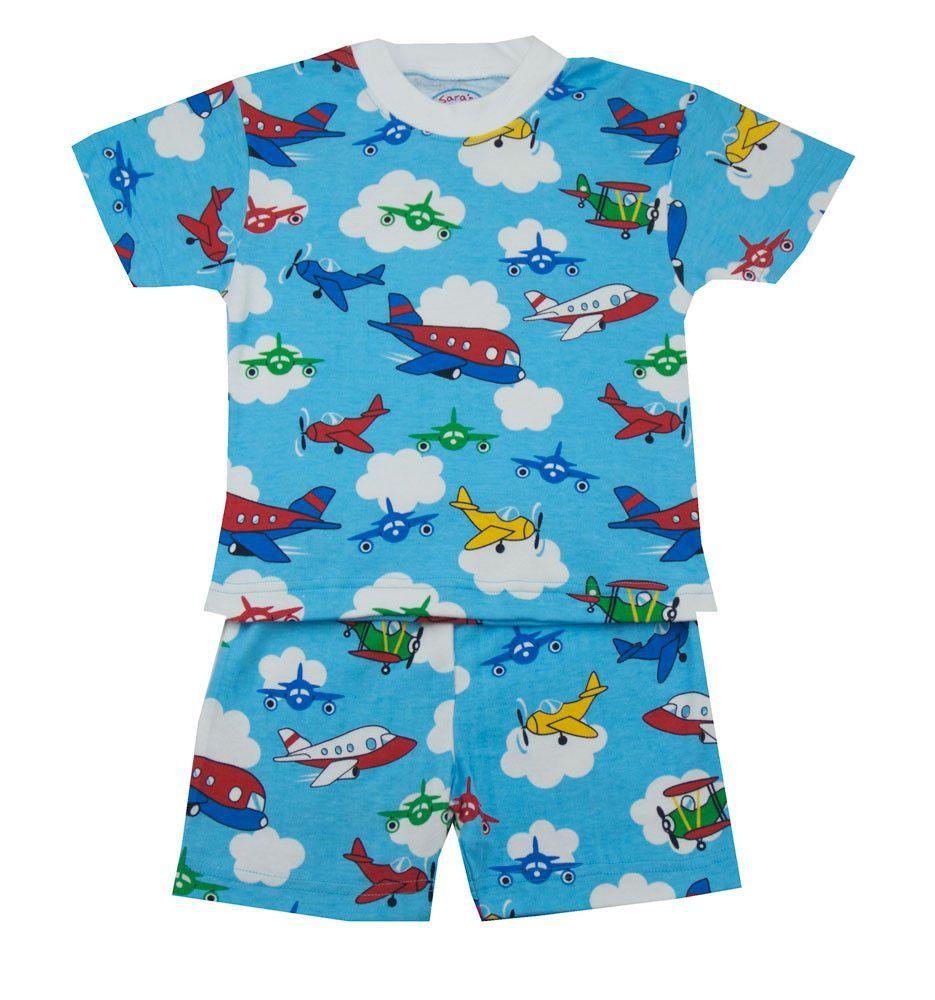 Sara's Prints Airplanes Short PJ's - Toddler Boy/Boy