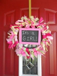 Chalkboard Crafts Baby Shower Ribbon Wreath