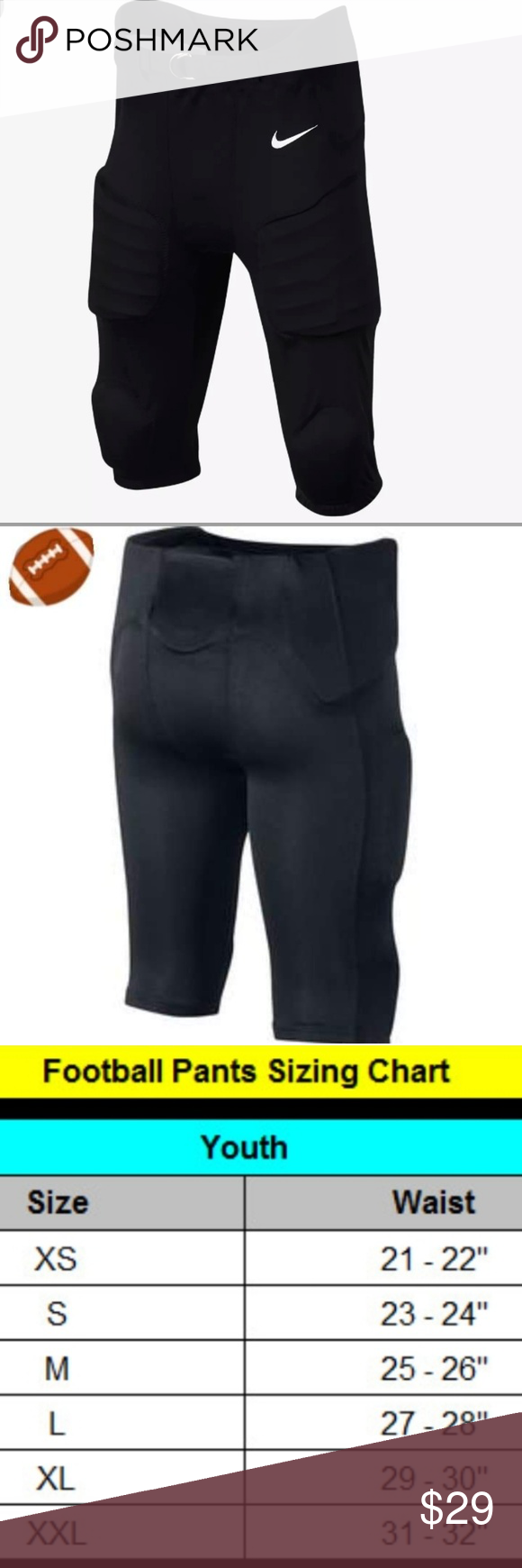 mejor online venta de descuento genuino mejor calificado Nike Boys Football Padded Pants NWT | Football pants, Football pads,  Football boys