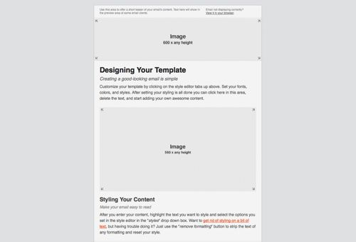 Email Blueprints From Mailchimp  Email Subscription