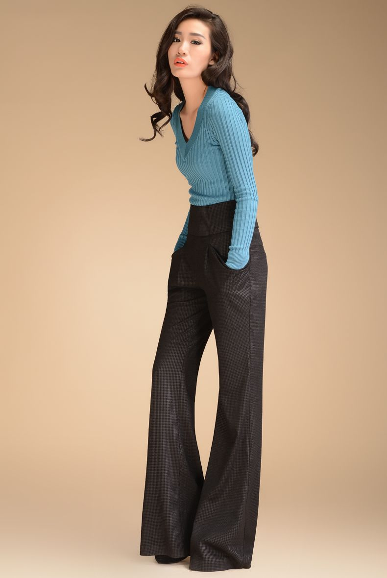 Aliexpress.com  Buy 2013 Autumn Fashion Formal Womens High Waist Black Trousers  Designer ...