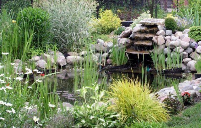 Wasserbecken im Garten 85 Ideen zur Inspiration Gärten und - wasserfall selber bauen