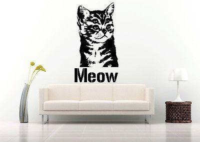 Wall Room Decor Art Vinyl Decal Sticker Monster Kitty Cat Eyes - Vinyl decal cat pinterest