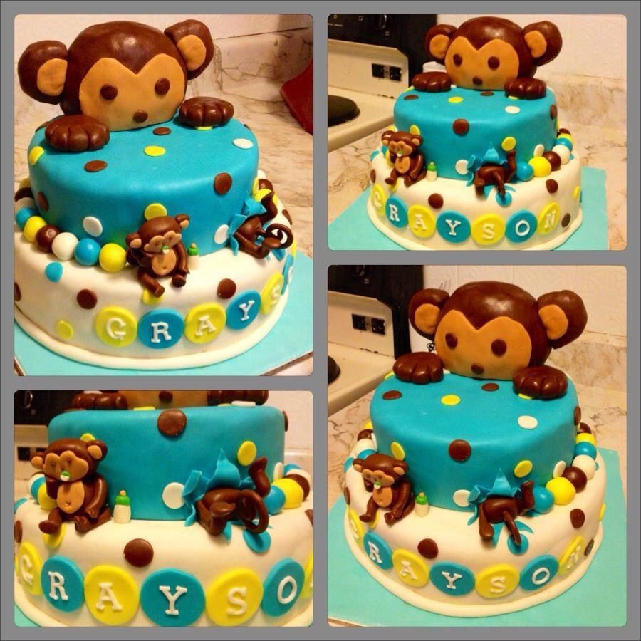 1st Mod Invitations Monkey Birthday