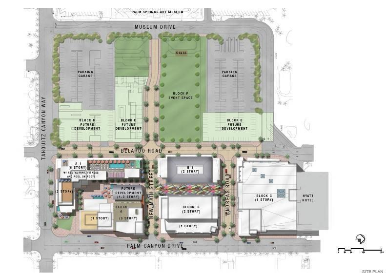 Site Plan For The Redevelopment Of The Former Desert Fashion Plaza