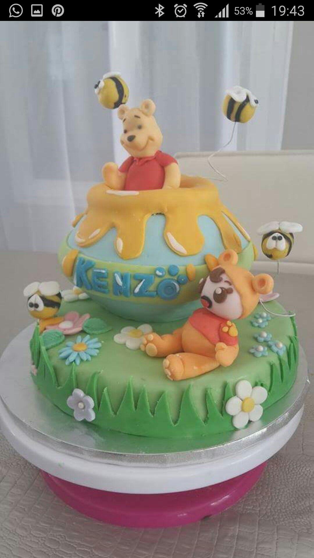Gâteau Winnie l ourson en pâte à sucre en 2019
